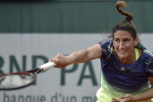Virginie Razzano à Roland Garros le 24 mai 2016