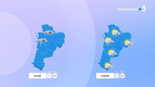La grisaille et les petites pluies vont persister demain. Mardi, le soleil reviendra mais avec encore quelques averses par endroit.