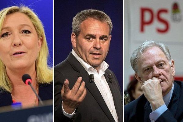 Selon le premier sondage officiel, Marine Le Pen récolterait plus de suffrages que Xavier Bertrand, et beaucoup plus que Pierre de Saintignon.