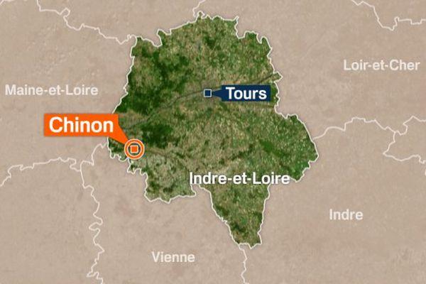 Carte de Chinon (Indre-et-Loire)
