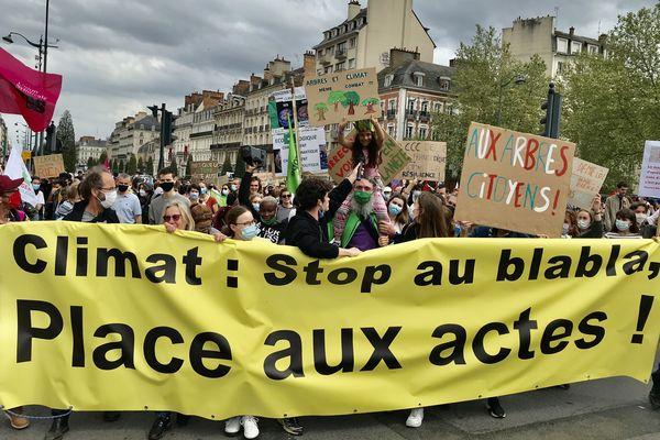 Manifestation pour une loi climatique plus ambitieuse à Rennes