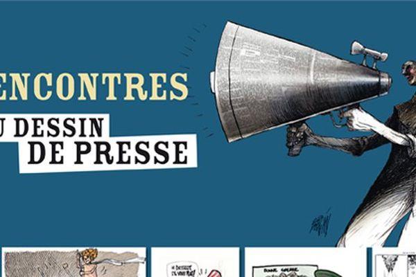 L'affiche des 4e rencontres du dessin de presse en 2014