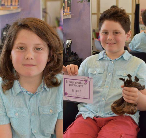 Ce garçon a donné ses cheveux pour faire une perruque pour un malade du cancer