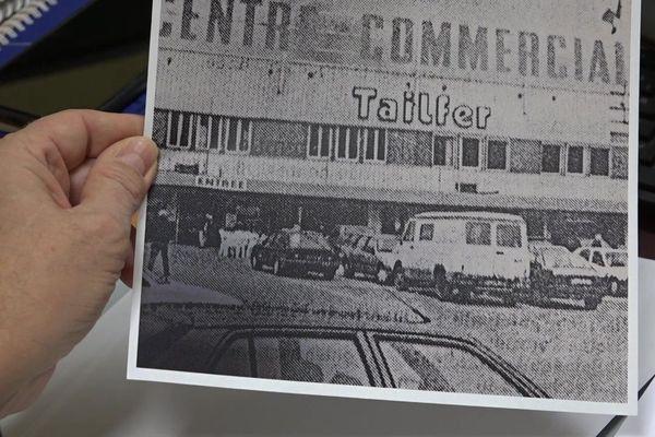 Témoignage photographique de l'implantation de l'entreprise Tailfer dans le 1er centre commercial de Tonnerre