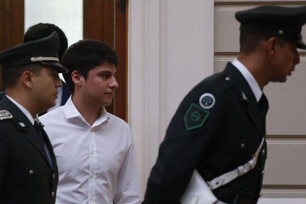 Nicolas Zepeda Contreras à son arrivée à la Cour Suprême du Chili