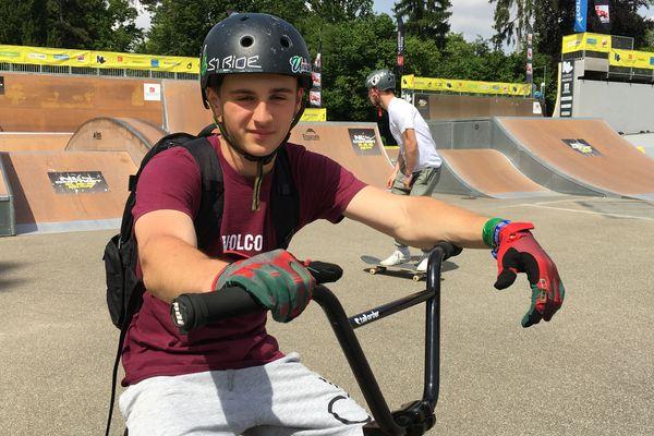 Florent Kastner adore les sensations et le sentiment de liberté que lui procure le BMX.