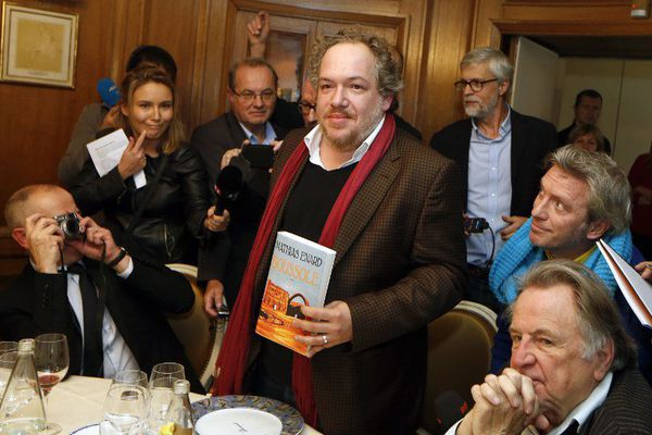 Mathias Enard hier lors de l'annonce du Goncourt chez Drouant.