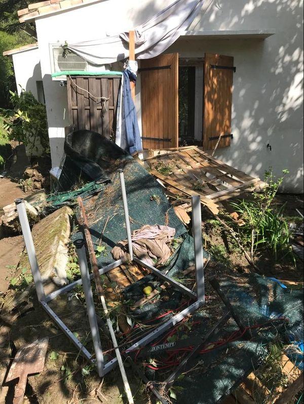 Saint-Julien-de-la-Nef - La maison de Yolande au lendemain des intempéries - 20.09.20