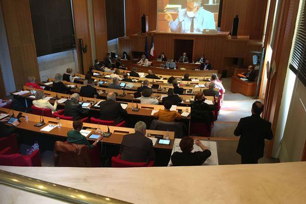 Session au Conseil départemental de la Corrèze le 23 avril 2021