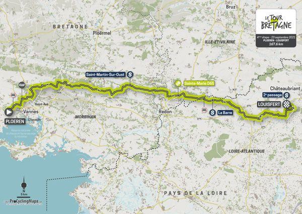 Parcours de la quatrième étape du Tour de Bretagne 2021