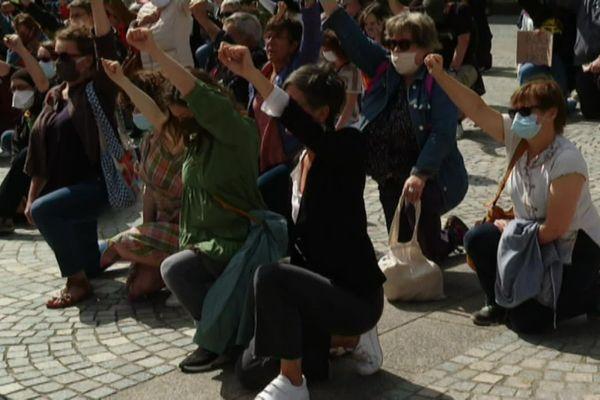 200 personnes ont manifesté à Quimper à l'appel de la ligue des droits de l'homme contre les violences policières