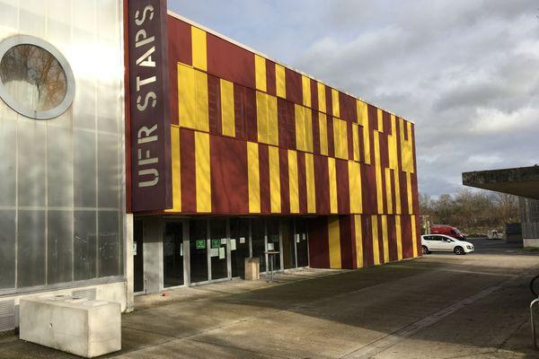 Le bâtiment de la faculté de sciences et techniques des activités physiques et sportives (Staps), à Reims.
