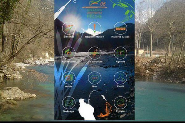 L'application de la Fédération de pêche 06.