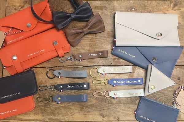 A Thiers dans le Puy-de-Dôme, Marion Roche créée des accessoires de maroquinerie avec les chutes de cuir des hélicoptères.