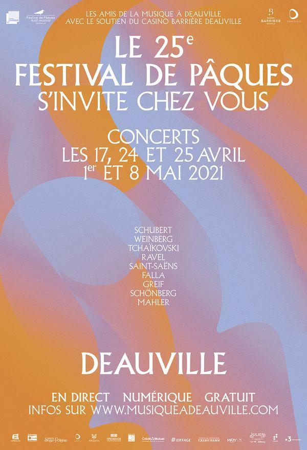 L'affiche de la 25e édition du festival de Pâques de Deauville.