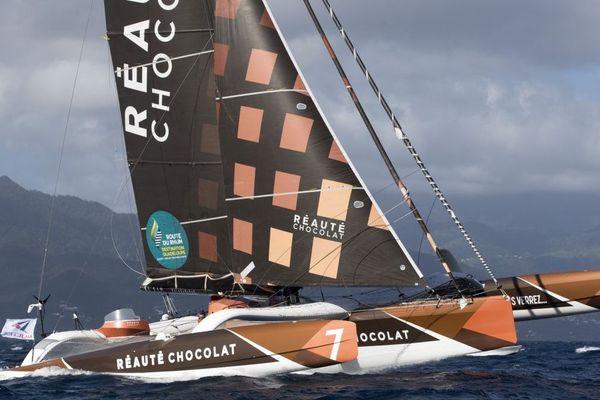 Armel Tripon sur son Multi50 Réauté Chocolat a pris la 3ème place de la Route du Rhum