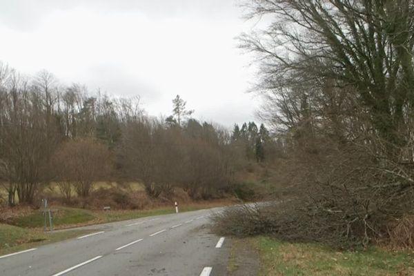 Fortes rafales de vent dans la nuit du vendredi 22 janvier 2021 en Creuse