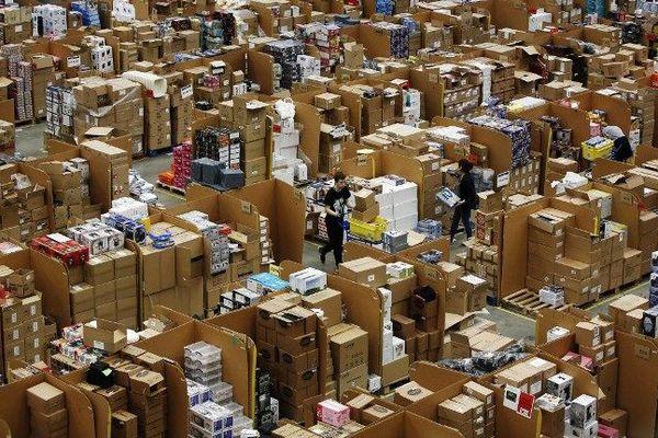 Un entrepôt du géant de la vente sur internet Amazon