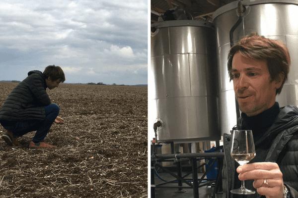 Étienne d'Hautefeuille et son associé cultivent l'orge, semé fin mars, afin de le transformer en whisky.