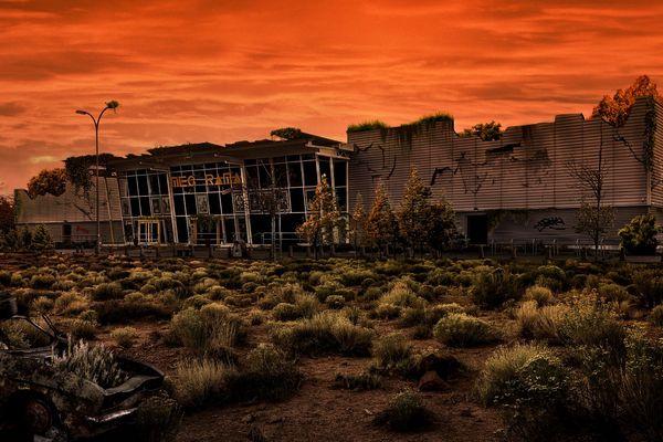 Le cinéma Megarama d'Audincourt après l'apocalypse.