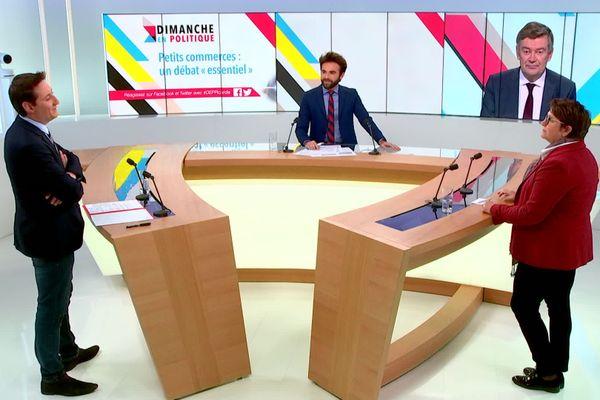 Le plateau de Dimanche en politique, diffusion le 8 novembre.