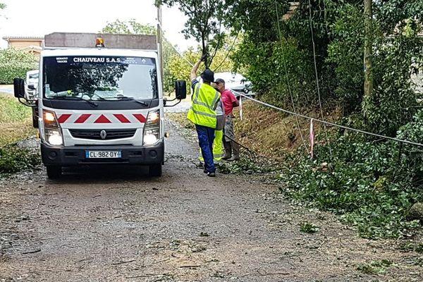 Mardi 11 août, les orages ont causé des dégâts à Baurech.