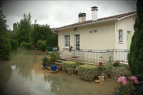 A Mansle, une habitation inondée lors des pluies d'il y a dix jours.