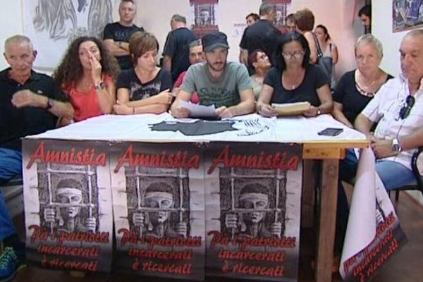 L'ancien détenu Sampieru Andreani tenait une conférence de presse aux côtés de l'association Sulidarità ce samedi 13 août.