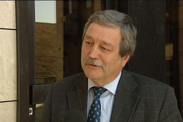 Michel Weyermann, alors premier vice-président du conseil général de Haute-Saône, en 2012