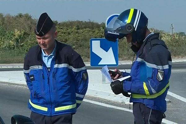 80 gendarmes étaient déployés dans la Marne le 26 juillet pour effectuer des contrôles routiers et assurer la sécurité des automobilistes.