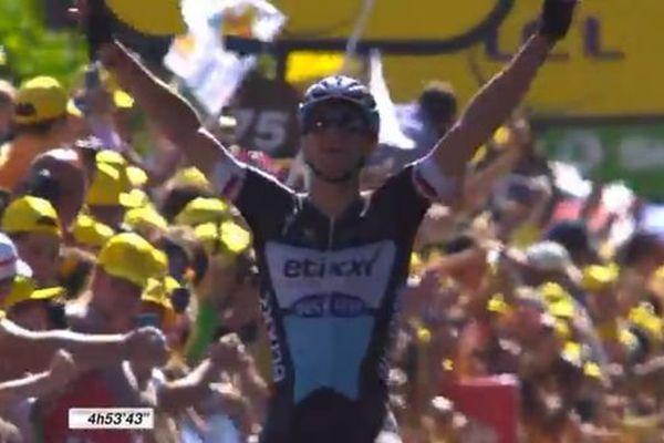 Le Tchèque Zdenek Stybar (Etixx) a remporté la 6e étape du Tour de France, jeudi 09 juillet,à l'arrivée au Havre.