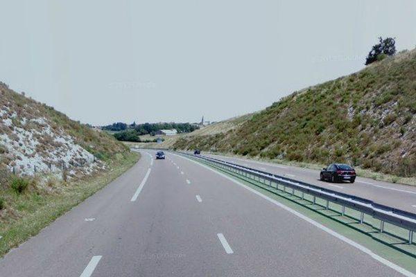 L'A20 à hauteur de Labastide-Murat dans le Lot coupée à la circulation