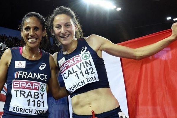 Laila Traby (à gauche) avait remporté la médaille de bronze sur 10 000 m aux derniers championnats d'europe à Zurich.