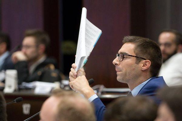 Julien Odoul, président du groupe RN (Rassemblement National) au conseil régional de Bourgogne-Franche-Comté