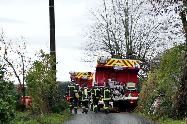 Rapidement sur place à Sénaillac-Latronquière (Lot), , les pompiers ne sont pas parvenus à sauver le nonagénaire