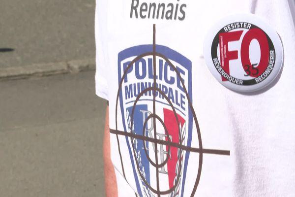 Les policiers municipaux de Rennes réclament plus de moyens de protection.
