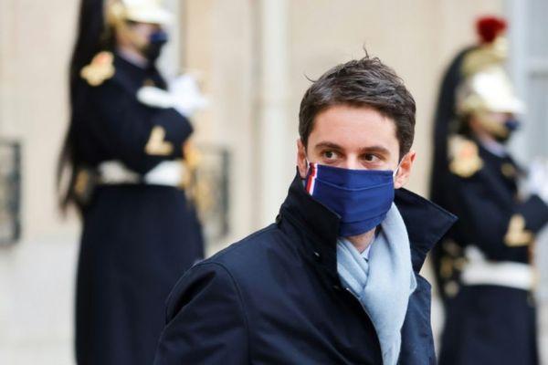 Le porte-parole du gouvernement Gabriel Attal le 6 janvier 2021 à Paris. AFP/ARCHIVES - LUDOVIC MARIN