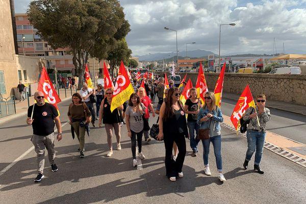 À Ajaccio, entre 150 et 200 personnes ont manifesté à Ajaccio ce mardi 5 octobre.