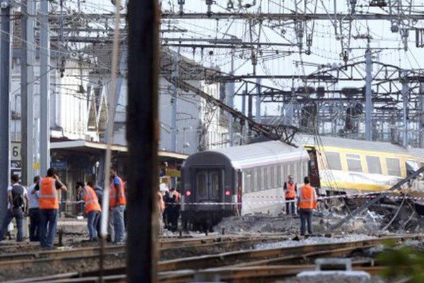 Le 12 juillet 2013, un train déraille en gare de Brétigny-sur-Orge.