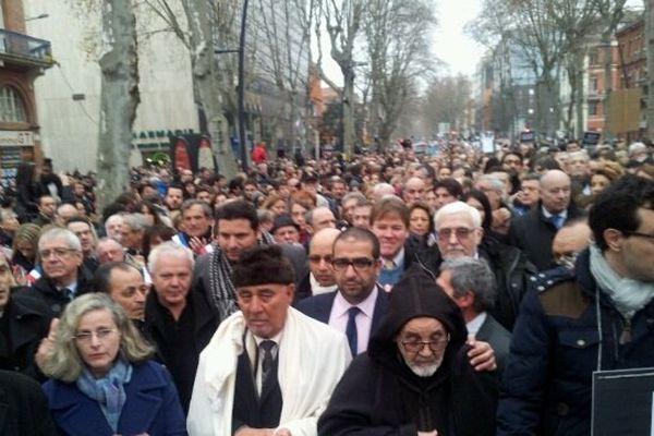 La communauté juive de Toulouse dans le cortège.