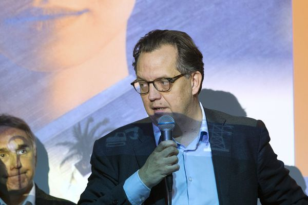 Alex Larue, lors d'un débat en février 2020.