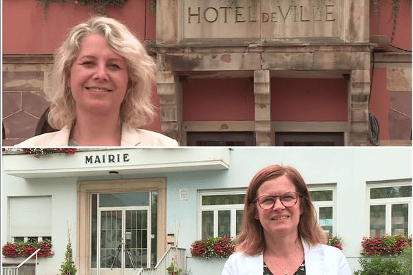 Nathalie Ernst, maire de Barr, et Cécile Delattre, maire d'Oberhausbergen, deux visages de la politique alsacienne au féminin.