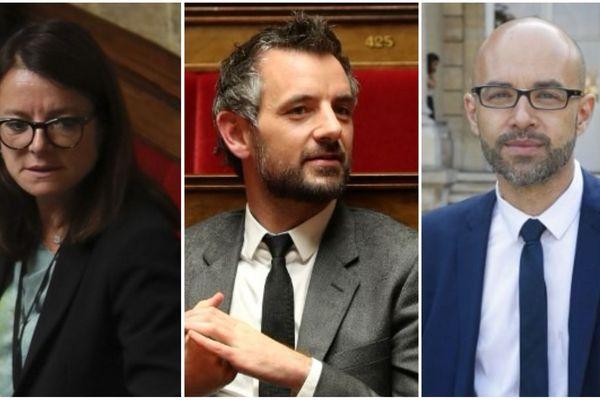 (De g. à d.) Les députés LREM Laurence Maillart-Méhaignerie, Florian Bachelier et Gwendal Rouillard comptent parmi les moins assidus à l'Assemblée Nationale.