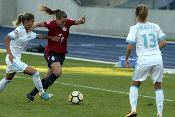 L'équipe féminine du LOSC évolue en D1 depuis cette saison. Ici, lors d'un match contre Marseille, le 15 octobre 2017.