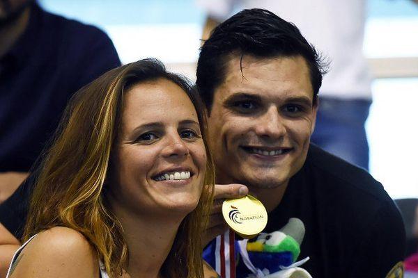 Florent Manaudou, vainqueur du 50 m nage libre aux championnats de France de natation à Montpellier le 3 avril 2016