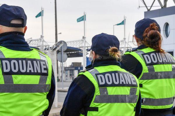 Terminal ferry de Calais, le 18 janvier 2019.