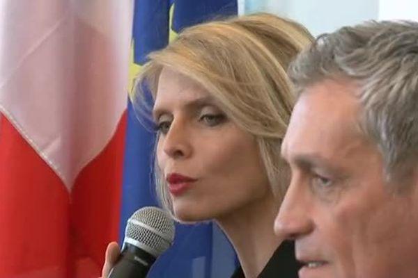 Sophie Tellier aux côtés de Philippe Saurel à Montpellier