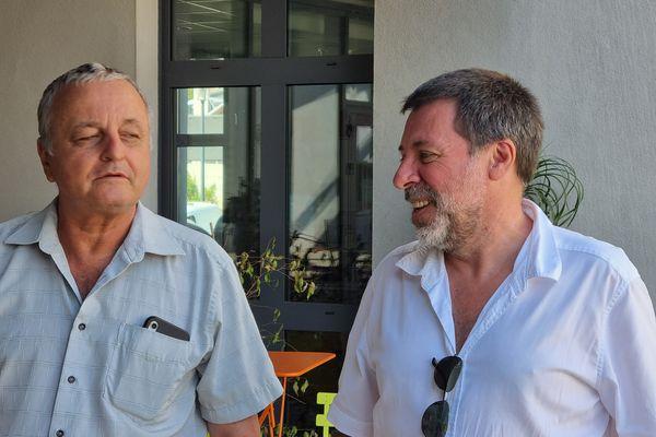 Ghjiseppu Turchini (à droite), au côté de l'eurodéputé François Alfonsi, à l'initiative du projet.