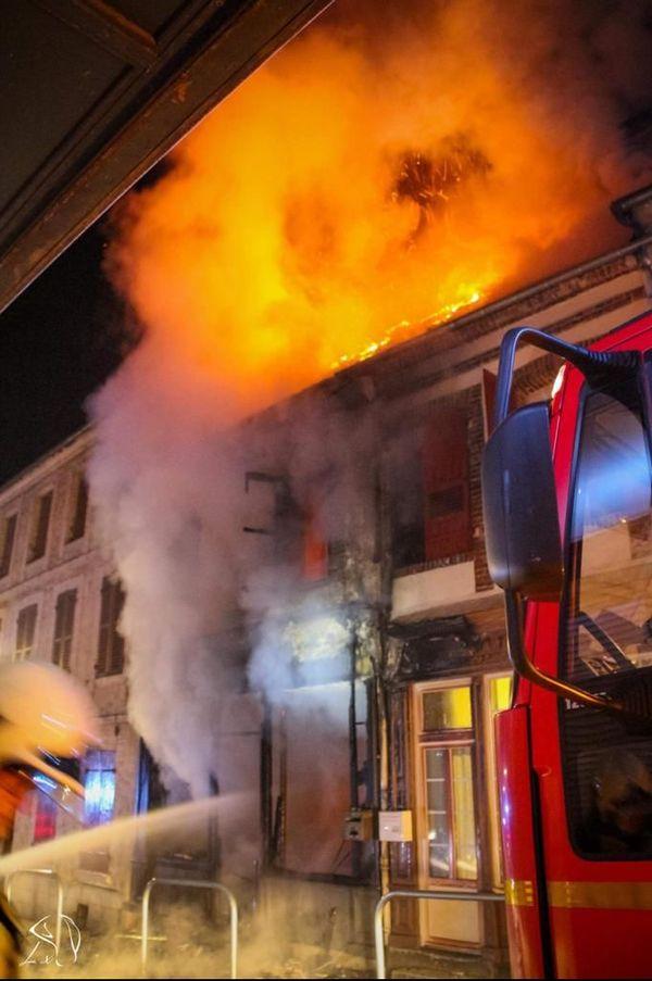 L'incendie a été très violent.