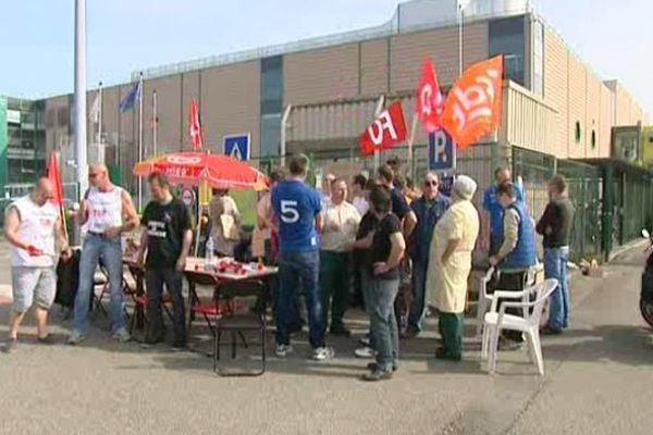 Une partie des salariés en grève